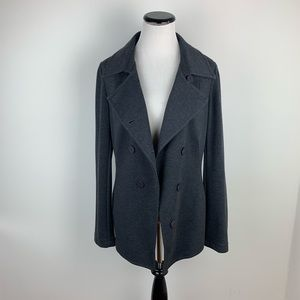 Bailey 44 Gray Knit Double Breasted Jacket